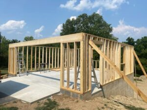New Construction, like this garage shown here, requires special permits. You contractor should take care of them for you.